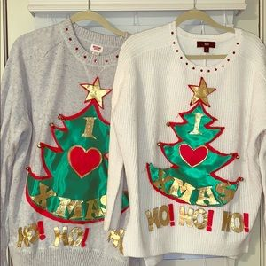 Sweaters - Matching ugly Christmas sweaters- Med & XL